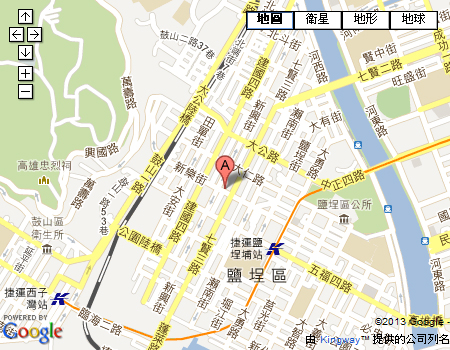 Google地圖-高雄市鹽埕區新樂街214號5樓